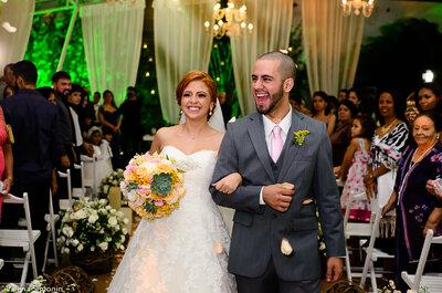 Carine & Michel: casamento DIY ultra romântico e emocionante com decoração LINDA!