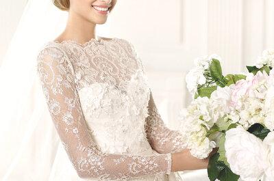 Vestidos de novia con escote en forma de corazón