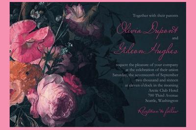 Conoce la exclusiva colección de invitaciones de boda de Claire Pettibone