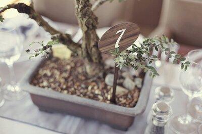 Método bonsai, el centro de mesa de boda para llevar