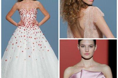 Rosafarbene Brautkleider für Ihre romantische Hochzeit
