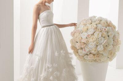 Flores en relieve, la nueva tendencia en vestidos de novia 2014