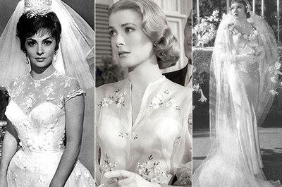 Os vestidos de noiva mais deslumbrantes de Hollywood