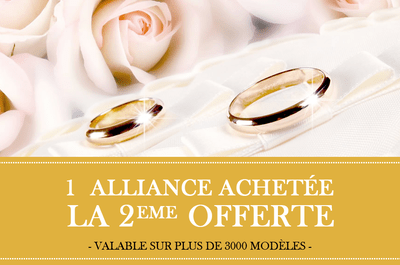 Pour toute alliance de mariage achetée, la seconde sera offerte : filez donc chez Franck Gef Paris