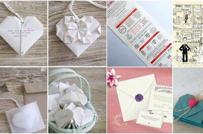 Invitaciones de boda originales: De cómics a origami