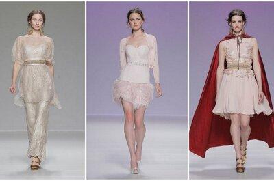 Tendances : robes nude et rose pour les invitées à un mariage 2014