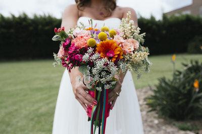 Cómo elegir el ramo de novia: ¡Descubre el significado de los colores y las flores!
