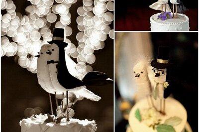 Adornos originales para el pastel de bodas