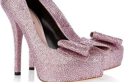 Voor de bruid met lef en zin in hakken: glitterschoenen!