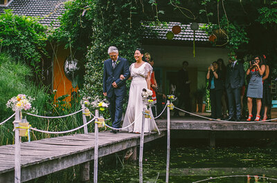 Real Weddings: Boda colorida vintage de Martina + Federico