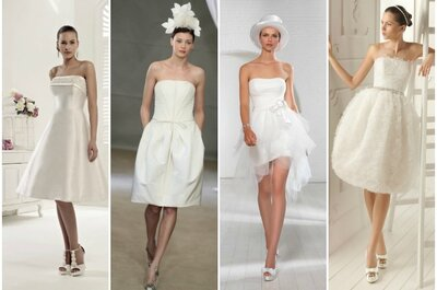 Matrimonio civile o religioso, il trend 2013 è l'abito da sposa corto. Scopri i preferiti di Zankyou!