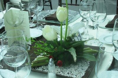 Cómo elegir los menús y montajes de mesa para tu boda ¡Bon appetit!