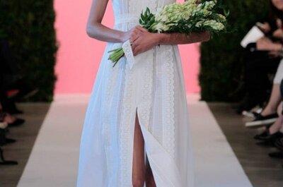 Do clássico ao exótico: os vestidos de noiva de Oscar de la Renta 2015