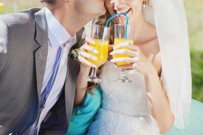 Deliciosos cócteles para tu boda ¡Toma nota!