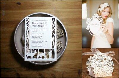 Trendy ślubne 2013: laserowo wycinane zaproszenia ślubne