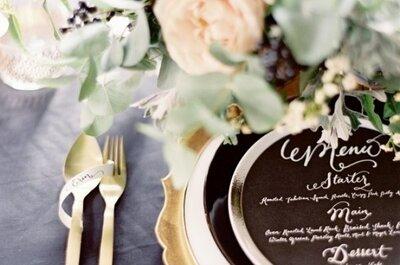 Cómo decorar tu boda 2016 con el color negro: La tendencia must más intensa y elegante