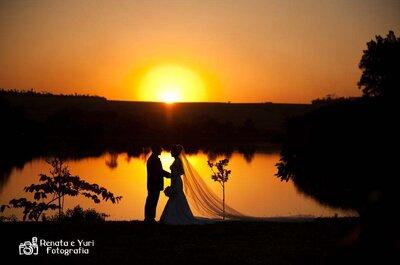 Casamento ao pôr do sol: Marina e Fabiano e a aposta no amor!