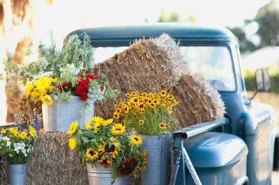 El toque country chic que tu boda necesita: Ideas básicas para decorar tu boda con estilo