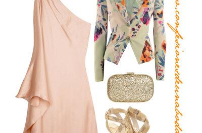 Cómo combinar los vestidos de fiesta color rosa