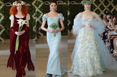 Vestidos de novia innovadores Oscar de la Renta 2013