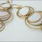 Aretes largos para novia hechos a mano con aros en color dorado
