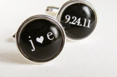5 Custom Wedding Cufflinks for Grooms