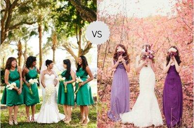 Pantone 2013 VS 2014: verde smeraldo o lilla come colore tematico per le tue nozze?