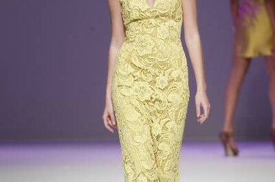 Vestido de noiva amarelo: não é mas podia ser...