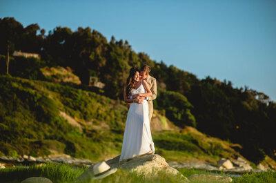 Daniela e Ignacio, un enlace de amor frente al mar