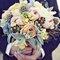 Uns apontamentos azuis no bouquet