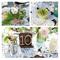 Hochzeitsdeko mit Gläsern und Vasen. Foto: Ashley Rose