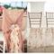 Decoración para sillas en el banquete de bodas - Foto Pictillo y Harwell Photography