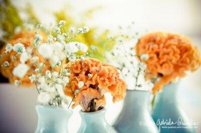 Itens decorativos do casamento decoram a casa dos recém casados