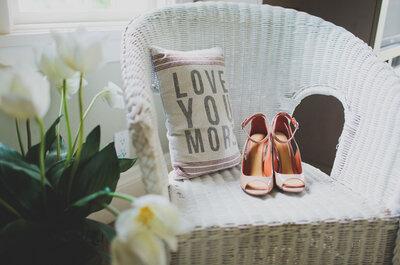 Kristin & Phil: Una boda shabby chic en un club de yates de California