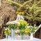 Decoración en color amarillo para la boda