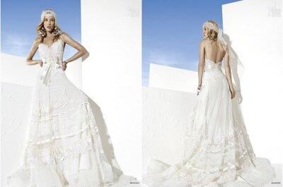 El vestido de la semana: un diseño ideal para casarse en la playa de Yolan Cris 2014