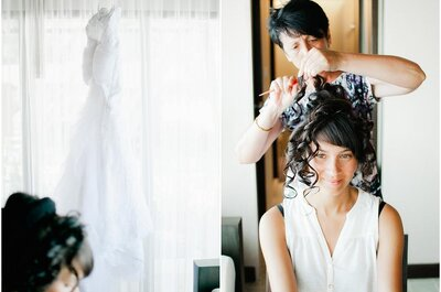 Curlies für die Brautfrisur
