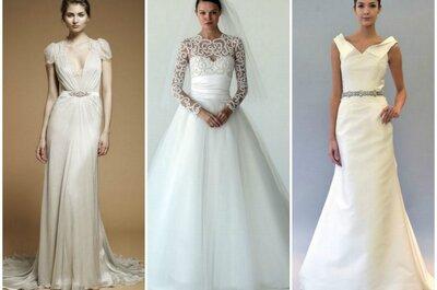 Vestidos de novia clásicos 2013: los modelos que nunca pasan de moda