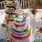 O bolo do casamento com a temática mexicana.