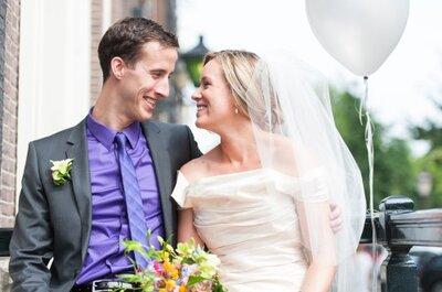 Intieme bruiloft in hartje Amsterdam: Lisanne en Arne