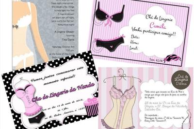 Convites super criativos para o seu chá de lingerie