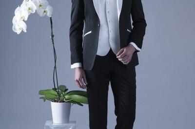 Costumes de mariage tendances et cintrés : la collection Hervé Mariage 2015