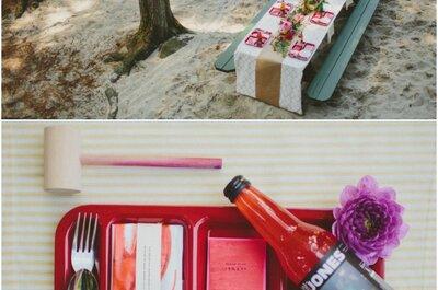 4 stijlen op 4 plaatsen: Een fantastische outdoor picknick voor een rustic-chic wedding!