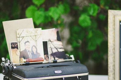 Ideias para decoração do seu casamento vintage: máquinas de escrever