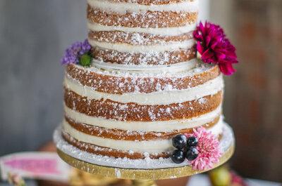 Naked cakes: última tendencia en postres de boda