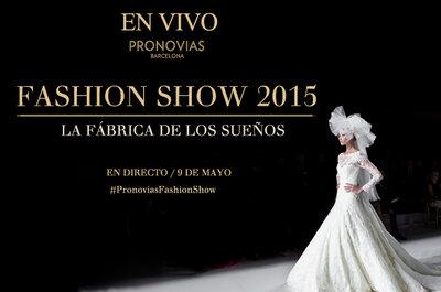 En vivo el desfile de Pronovias 2015 directo del Barcelona Bridal Week