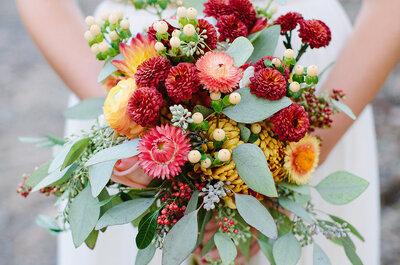 Bruidsboeketten voor de herfst