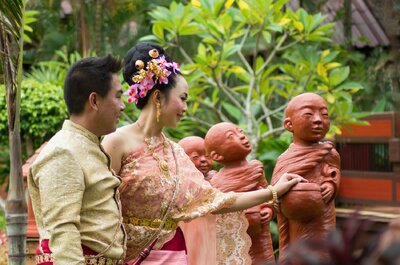 Como são os vestidos de noiva tradicionais no Oriente?