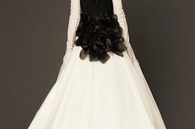 Robes de mariée blanches et touche de noir: les plus beaux modèles de créateurs