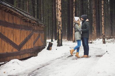 Зимнее, но теплое love story Кирилла и Жени